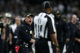 NEW ORLEANS, LOUISIANA - JANUARY 20: Head coach Sean Payton of the New Orleans Saints reacts after a no-call between Tommylee Lewis #11 of the New Orleans Saints and Nickell Robey-Coleman #23 of the Los Angeles Rams during the fourth quarter in the NFC Championship game at the Mercedes-Benz Superdome on January 20, 2019 in New Orleans, Louisiana at Mercedes-Benz Superdome on January 20, 2019 in New Orleans, Louisiana.