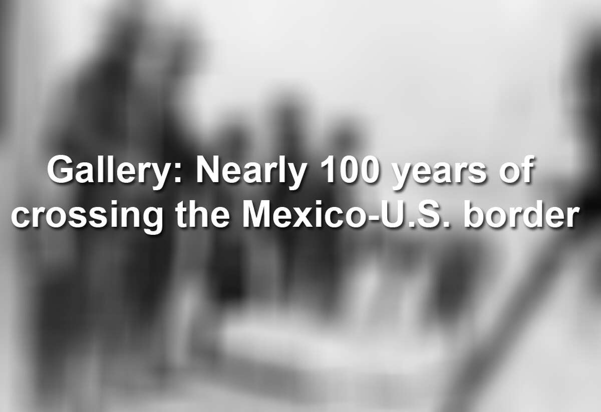Keep scrolling to see what crossing the Mexico-U.S. border looked like nearly a century ago.
