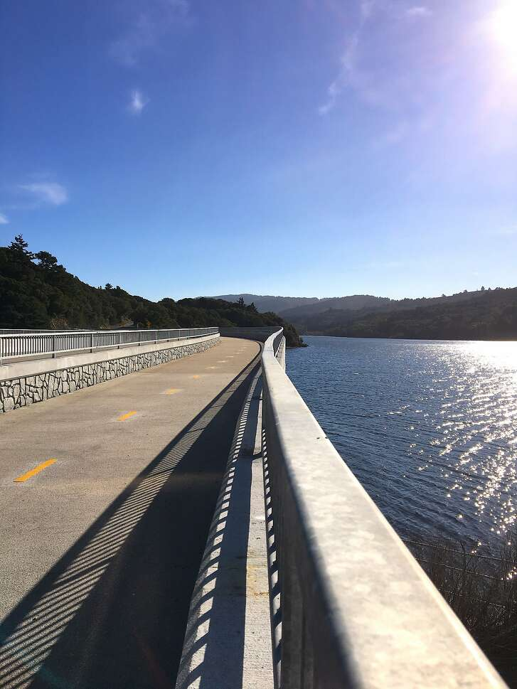 After eight years of renovation and construction, a new bridge and trail for cycling and hiking over the dam at Crystal Springs Reservoir was opened in January