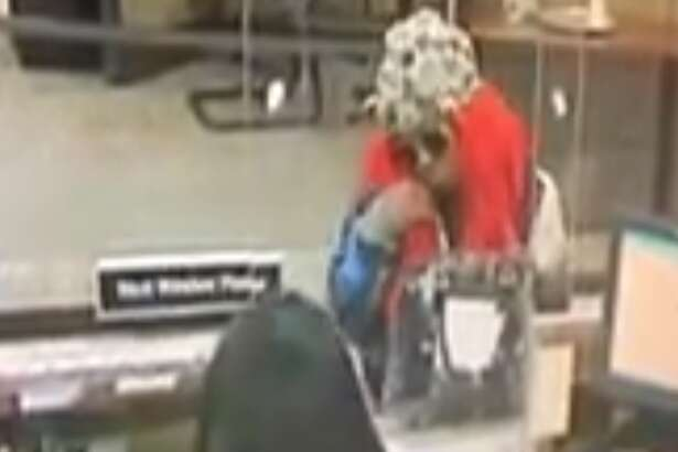Houston police released a surveillance video of a woman accused of robbing six banks in a five-day period earlier this month.