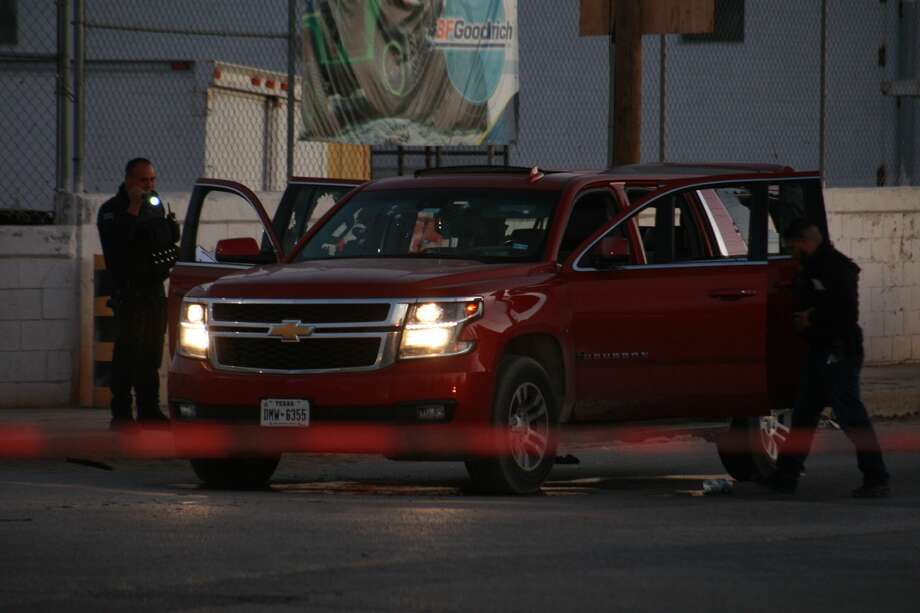 An SUV was riddled with bullets during shootout between gunmen and policemen in Ciudad Juarez, Chihuahua, Mexico, on 18 January 2019. Gunmen attacked the police headquarters where 8 policemen were injured and 1 was killed. (Photo by David Peinado/NurPhoto via Getty Images) Photo: NurPhoto/NurPhoto Via Getty Images