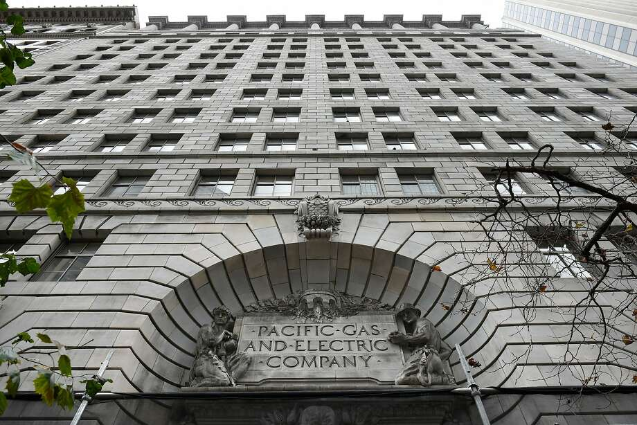 A sign is seen on the facade of PG&E's headquarters in San Francisco, CA, on Monday January 14, 2019. Photo: Michael Short / Special To The Chronicle