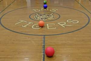 File photo of the Bethel Middle School gym during the ninth annual Tiger Ball Tournament on Tuesday, March 10, 2015.