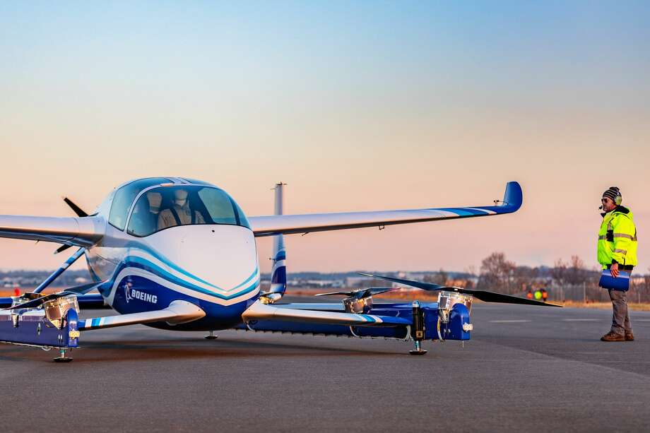 Boeing successfully completed the first test flight of its autonomous passenger air vehicle (PAV) prototype in Manassas, Virginia on Tuesday, Jan. 22, 2019. Photo: Hand-out/Boeing