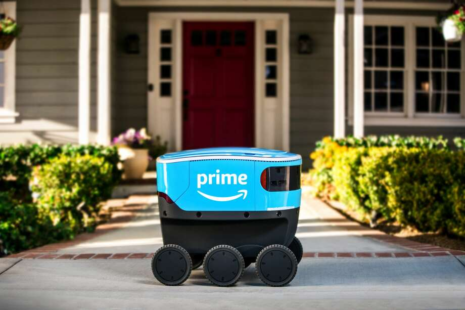 A self-driving robot is being tested by Amazon. Keep clicking to see how Amazon has grown in the last 10 years... Photo: Courtesy Amazon