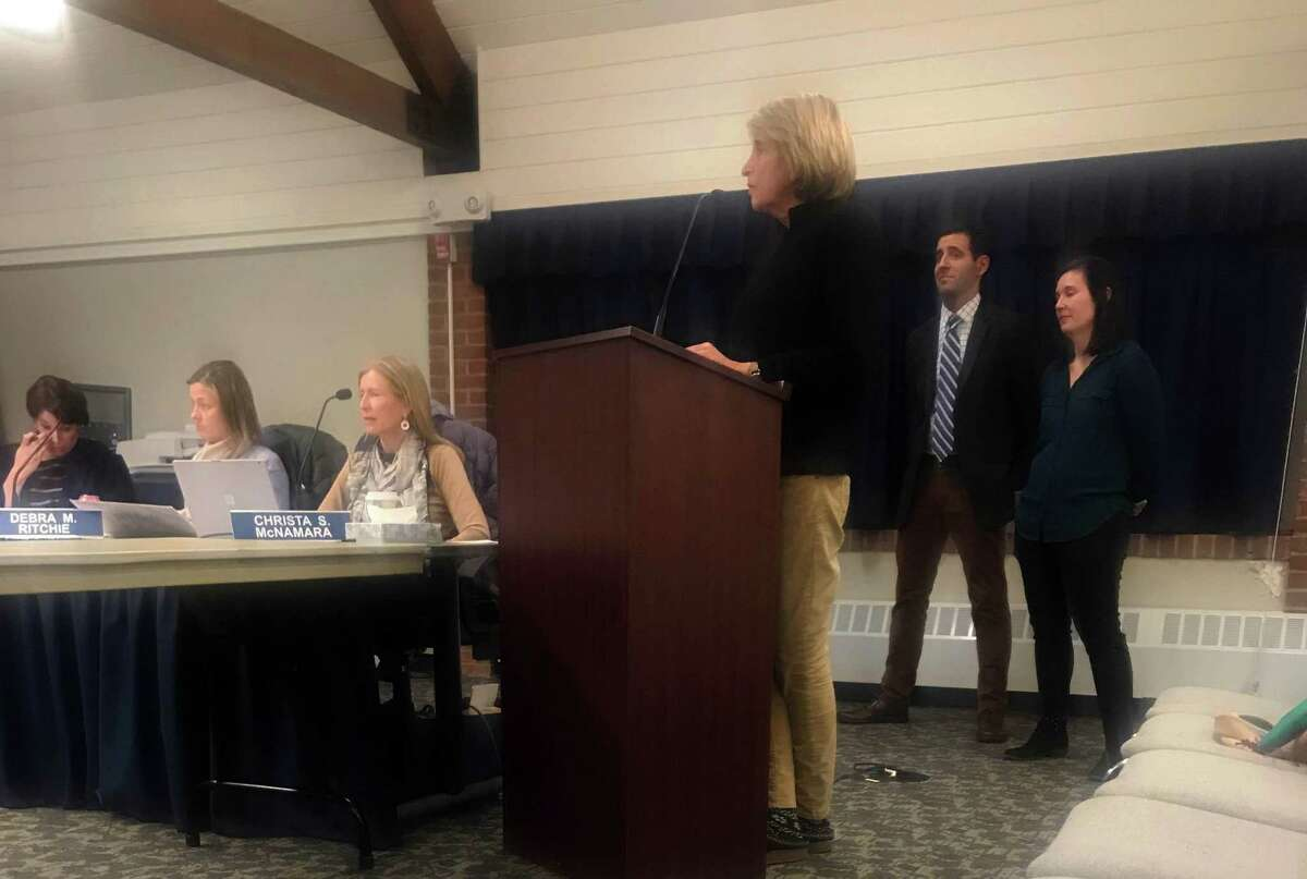 Middlesex Middle School Principal Shelley Semmers speaking before the Board of Education at their meeting Tuesday night. Taken Jan. 22.