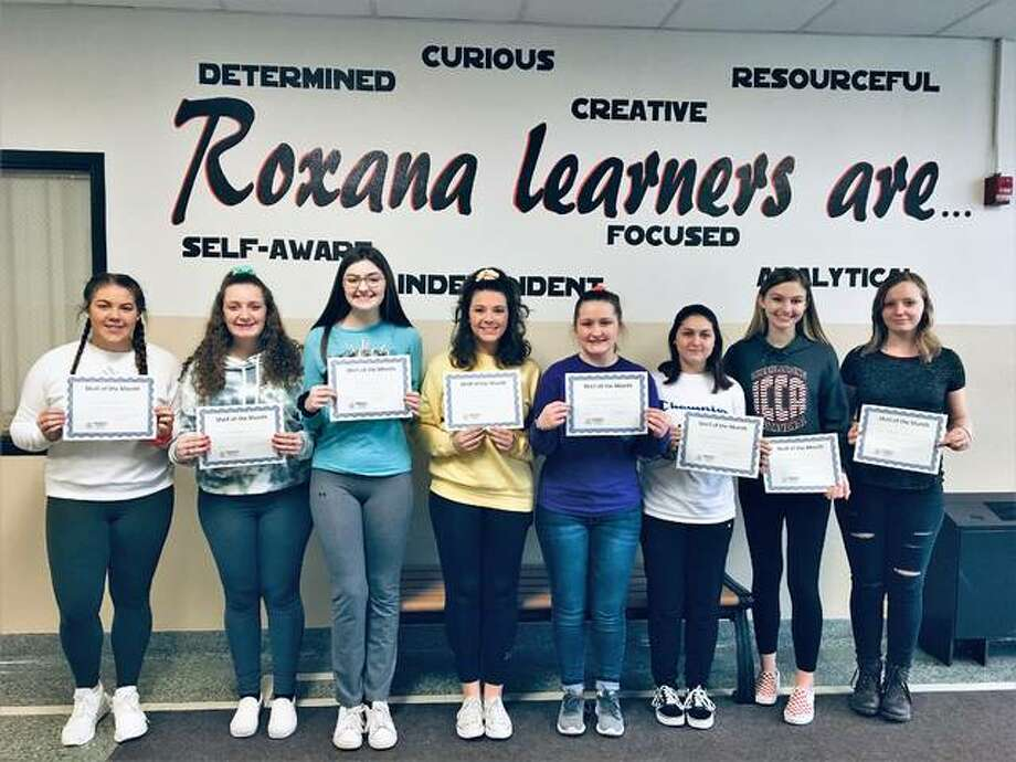 "Roxana High School ""Shell of the Month"" award winners. Photo: The Telegraph"