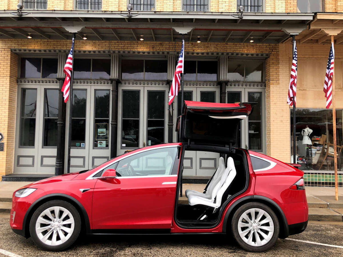 ElecTrip drives its customers across Texas in a Tesla. Pictured is a Tesla Model X.