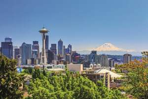 SEATTLE, USA    (Photo: The 1962 Space Needle stands tall on the Seattle skyline.)