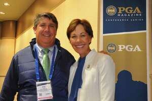 PGA President Suzy Whaley, who grew up playing golf in Syracuse, had the support of Scotia native Ron Philo Jr. during her campaign to be elected to the national board of the PGA of American. Philo and Whaley attended the PGA Magazine Women Leaders Platform Summit at the PGA Merchandise Show in Orlando, Florida on Wednesday, Jan. 23, 2019.