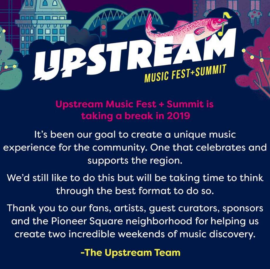 Upstream posted this announcement on its Facebook page on Wednesday, stating there would be no Upstream Music Fest in 2019. Photo: Facebook Screen Grab