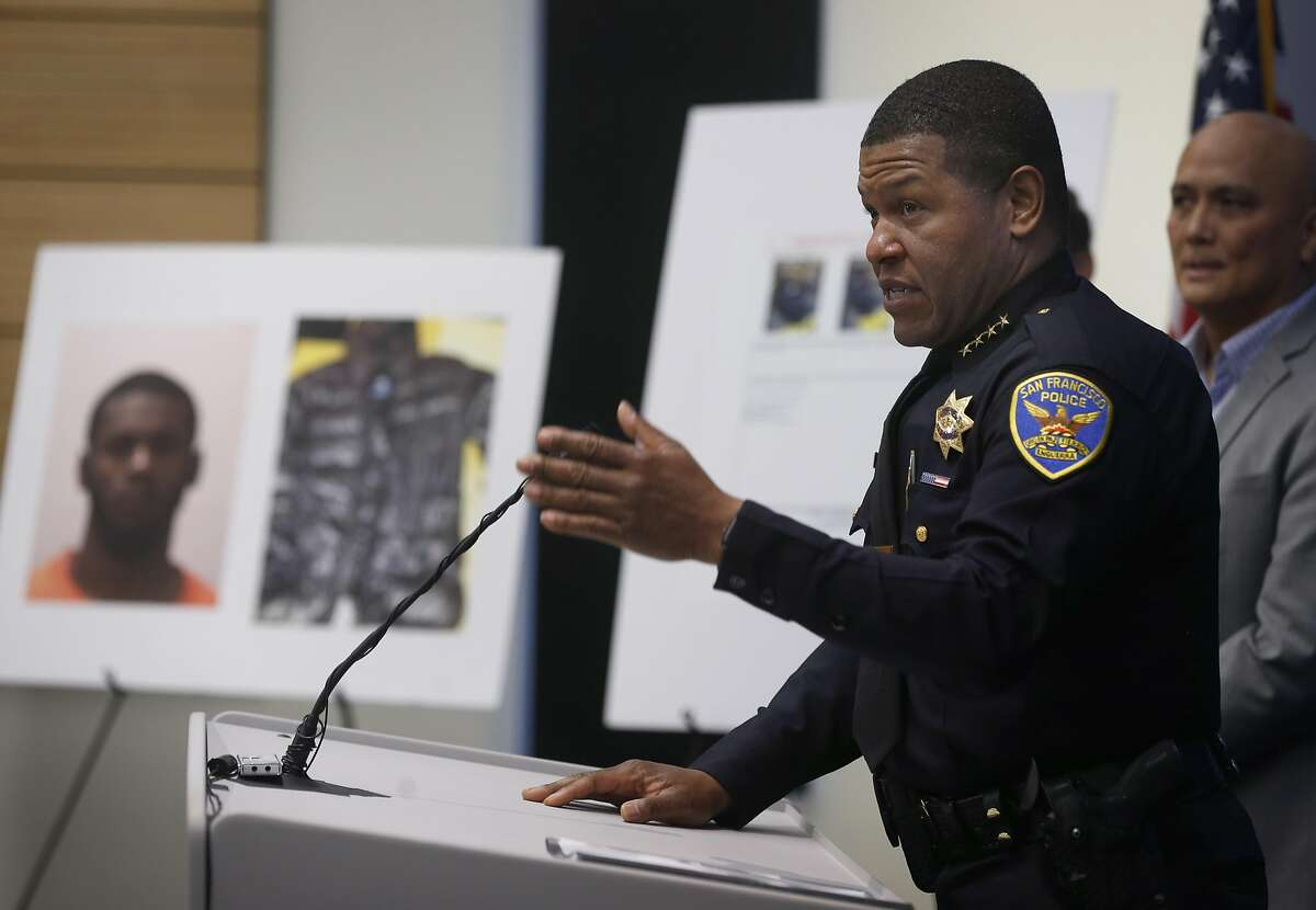 San Francisco Police Chief Bill Scott announces the arrest of Keonte Gathron, 18, who is suspected in the severe beating of 88-year-old Yik Oi Huang, during a news conference at police headquarters in San Francisco, Calif. on Wednesday, Jan. 23, 2019.