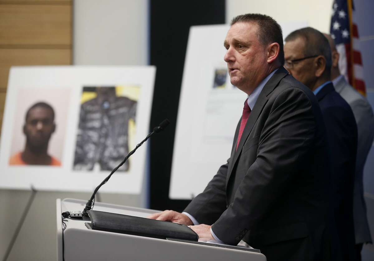 San Francisco Police Cmdr. Greg McEachern announces the arrest of Keonte Gathron, 18, who is suspected in the severe beating of 88-year-old Yik Oi Huang, during a news conference at police headquarters in San Francisco, Calif. on Wednesday, Jan. 23, 2019.