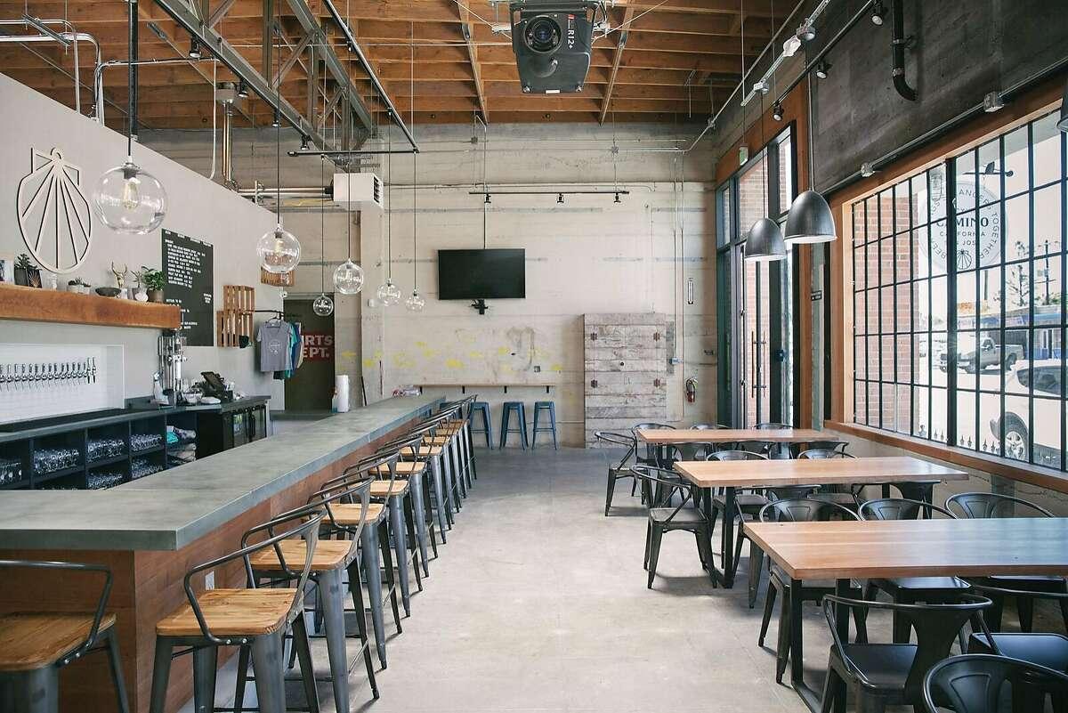 Camino Brewing Co.'s taproom in San Jose, California.