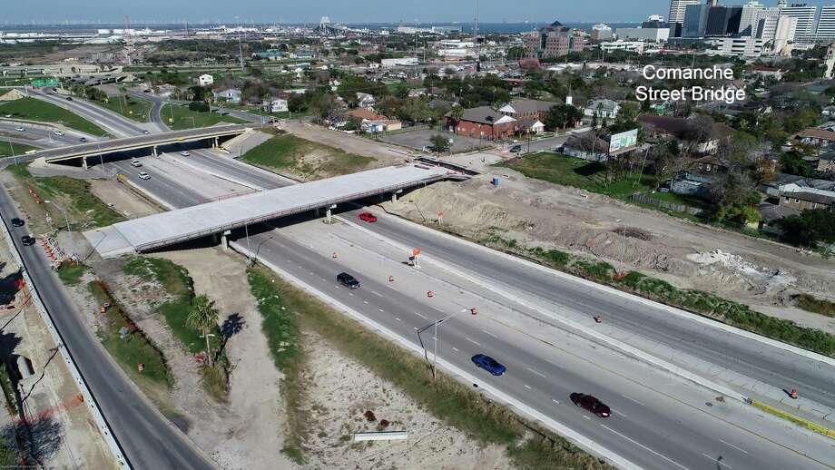 Aerial photos show the progress on Corpus Christi's major Harbor Bridge project. The photos were posted on the Harbor Bridge Bridge Project Facebook on Jan. 22, 2019. Photo: Courtesy Harbor Bridge Project