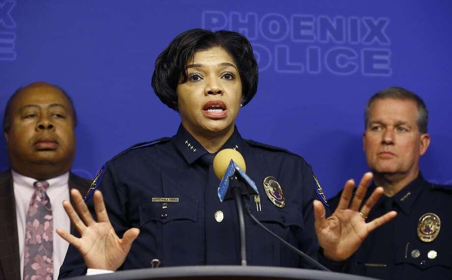 File photo of Phoenix Police Chief Jeri Williams on Jan. 23, 2019. (AP Photo/Ross D. Franklin) Photo: Ross D. Franklin, Associated Press