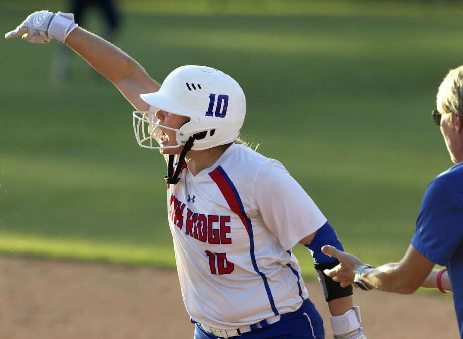In this file photo, Kennedy Reynolds (10) of Oak Ridge reacts after hitting an RBI single in the sixth inning of Game 2 during a Region II-6A final on Saturday, May 26, 2018, in Tomball. Photo: Jason Fochtman, Staff Photographer / Houston Chronicle / © 2018 Houston Chronicle