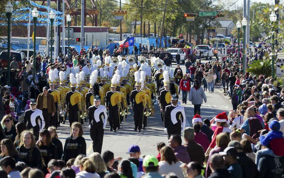 The Conroe High School band makes its way down Collins Street during the annual Conroe Christmas Celebration parade, Saturday, Dec. 9, 2017, in Conroe. Photo: Jason Fochtman, Staff Photographer / Houston Chronicle / © 2017 Houston Chronicle