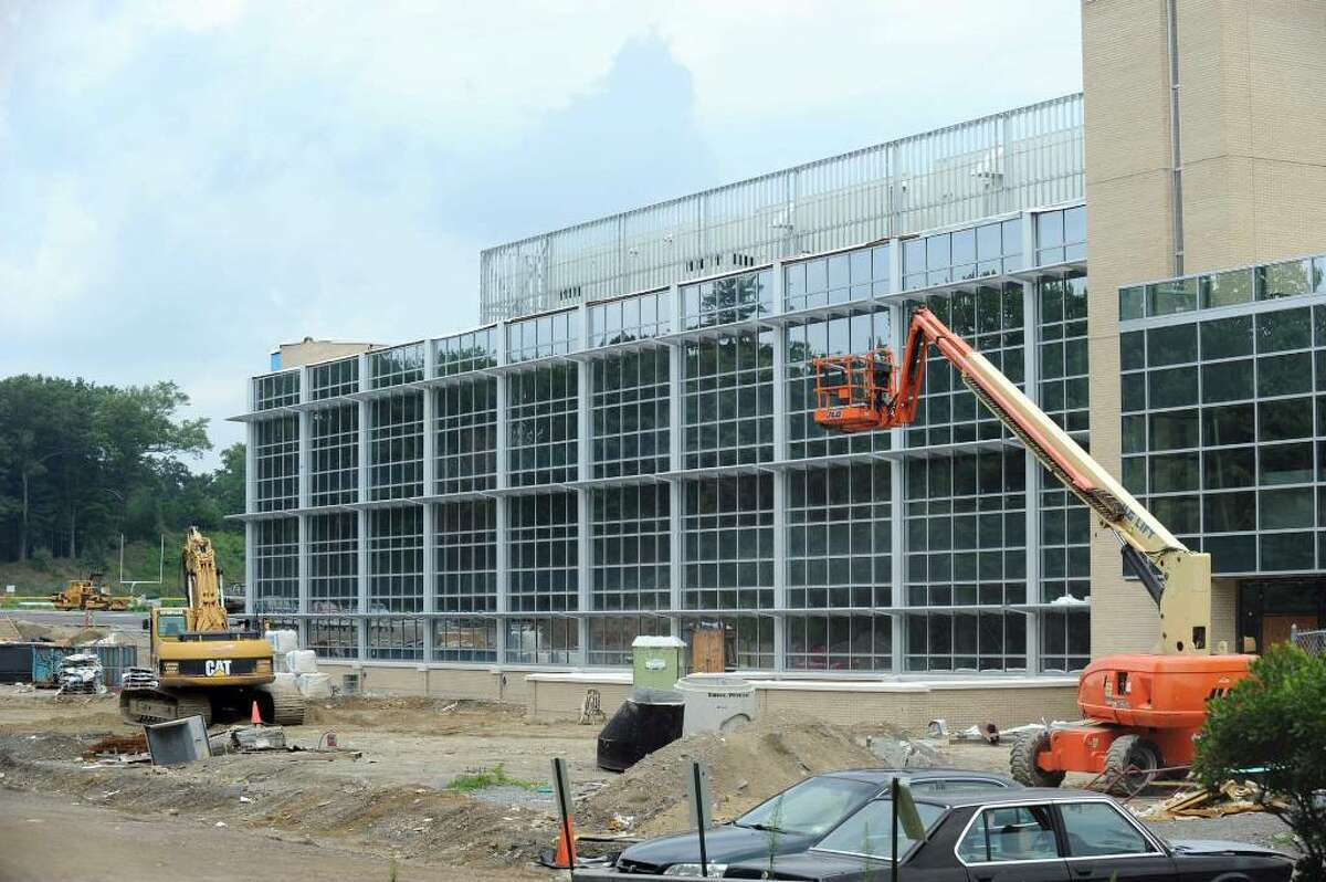 Newtown High School is undergoing a major expansion, which is almost complete. Construction is expected to be completed by the time school opens in the fall.