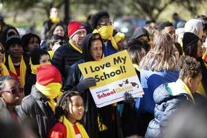 Char Pitts, whose children go to Mission Bend Christian Academy in Houston, attends the School Choice Rally at the Texas State Capitol on January 23, 2019 in Austin, Texas. (Thao Nguyen/Special Contributor)