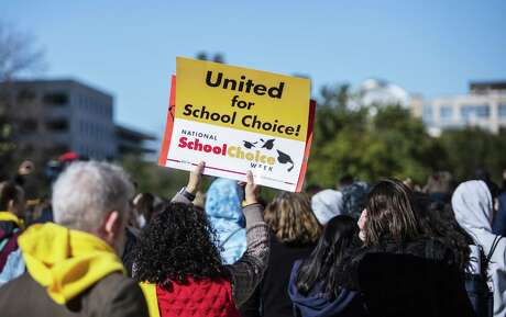 Students along with parents and teachers attended the School Choice Rally at the Texas State Capitol on Jan. 23, 2019 in Austin, Texas.