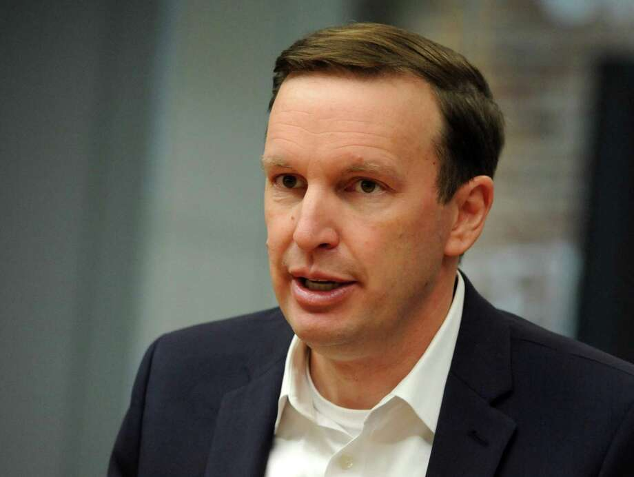 U.S. Sen. Chris Murphy joined an MSNBC panel Tuesday in condemning Infowars host Alex Jones and Silicon Valley companies for allowing conspiracy theories that may have factored into several recent school shooting-related suicides. Photo: Cathy Zuraw / Hearst Connecticut Media / Connecticut Post