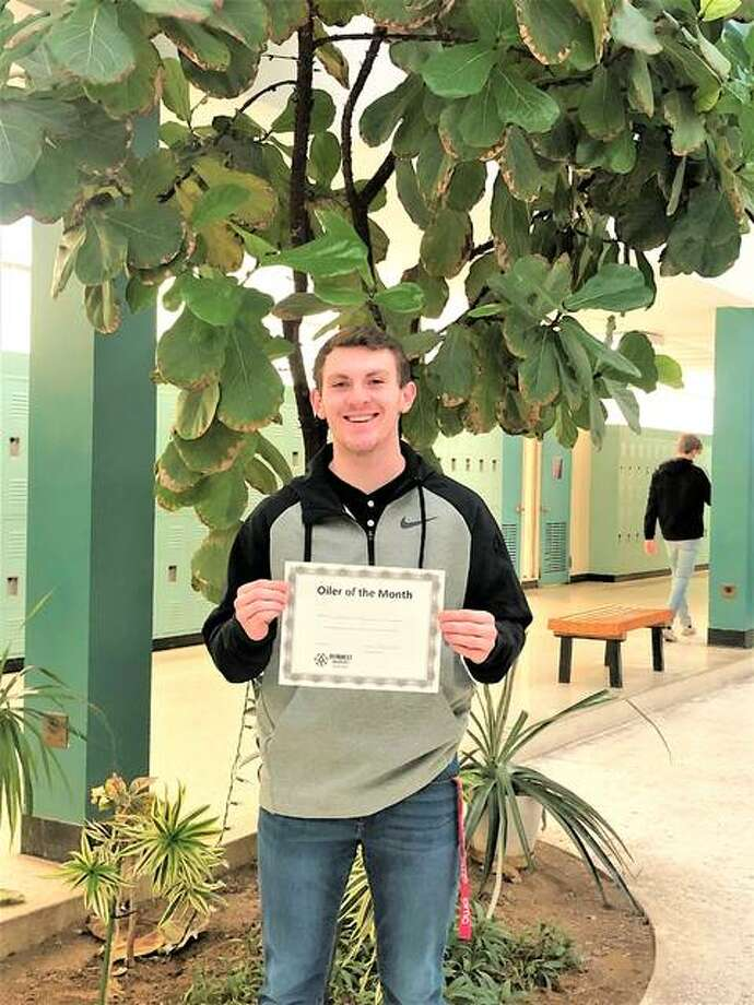"East Alton-Wood River High School senior Jared Liley, the ""Oiler of the Month"" award winner for January. Photo: For The Telegraph"
