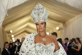 Rihanna at the Costume Institute Gala at the Metropolitan Museum of Art in 2018. Rihanna and Moët Hennessy Louis Vuitton LVMH are in the midst of a deal that would make her the first female designer of color at the world's largest luxury conglomerate.