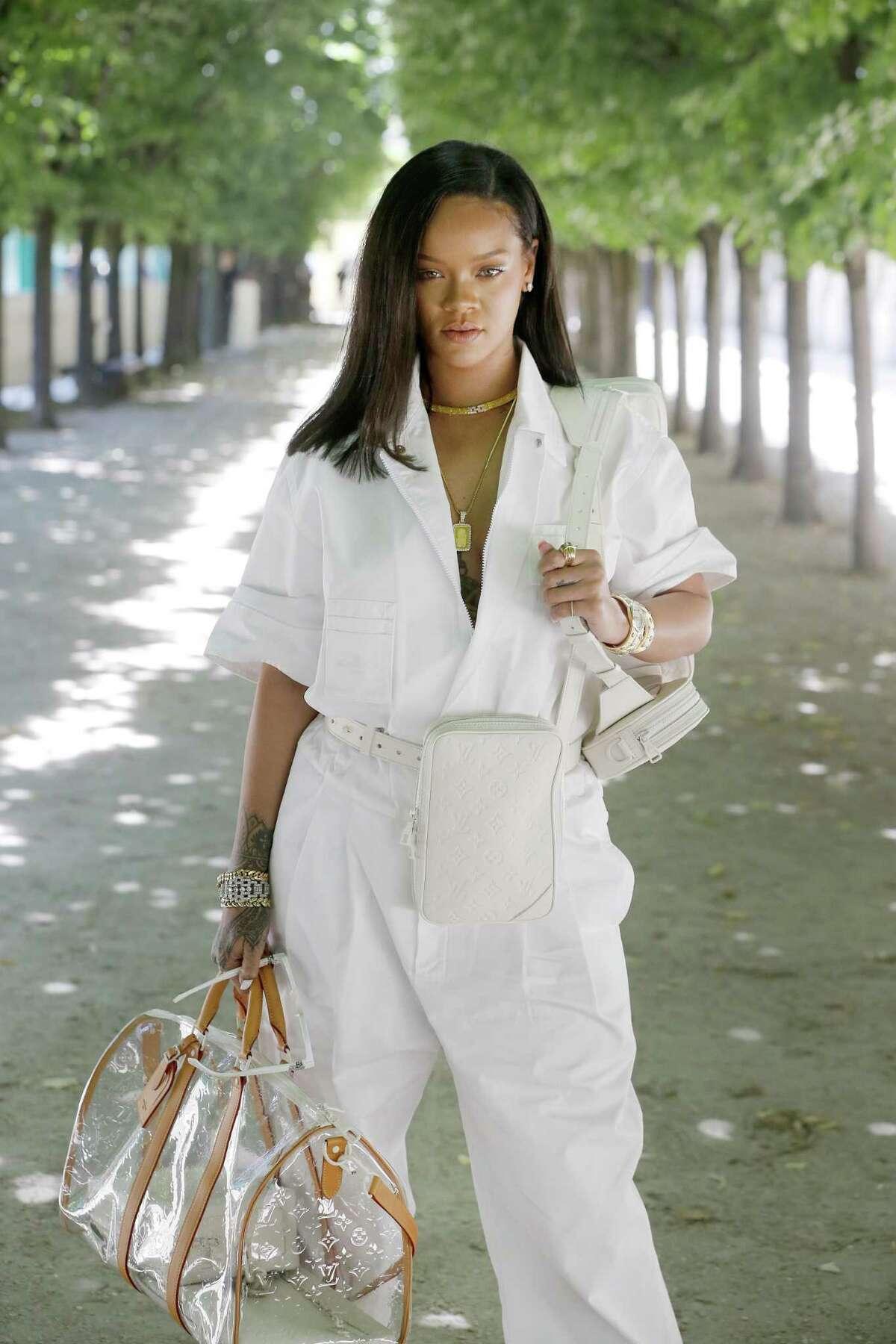 Rihanna attends the Louis Vuitton Menswear Spring/Summer 2019 show.