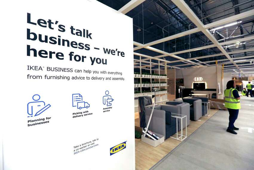 A business furniture display is seen Wednesday, Jan. 23, 2019 in the soon-to-open IKEA Furniture near the intersection of Loop 1604 and I-35 on the city's north east side.