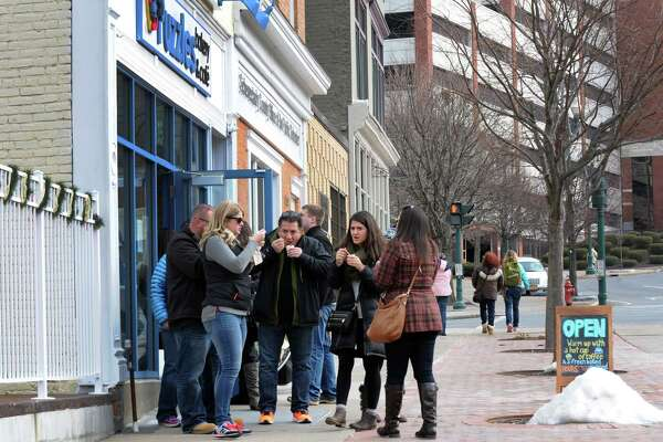 Puzzles Bakery & Café served up sweet & stout chili during the Schenectady Soup Stroll on Saturday Jan. 30, 2016 in Schenectady, N.Y. (Michael P. Farrell/Times Union)
