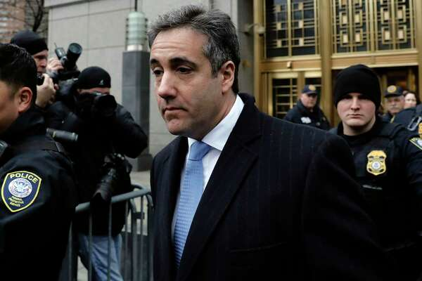 Michael Cohen, former personal lawyer to President Trump, exits federal court in New York on Dec. 12, 2018.