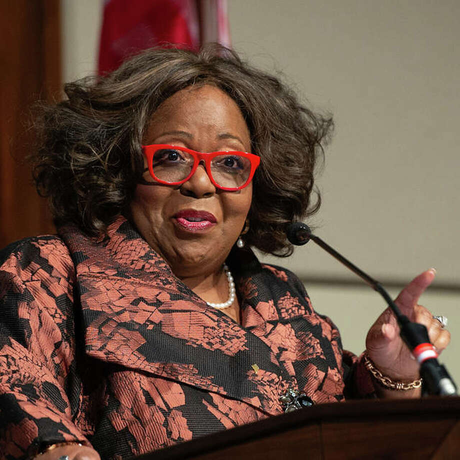 G. Christine Taylor, PhD, vice president and associate provost for diversity, equity and inclusion at the University of Alabama, was the keynote speaker at SIUE's Annual MLK Week Luncheon. Photo: For The Intelligencer