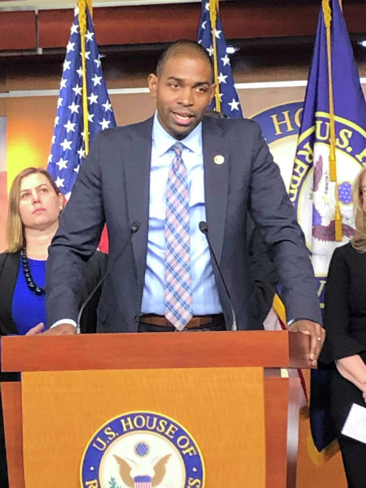 U.S. Rep. Antonio Delgado, D-Rhinebeck, speaks at a Jan. 23, 2019, news conference in Washington, D.C.