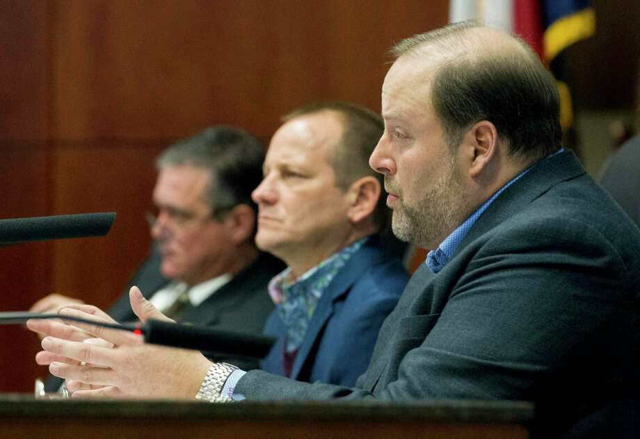 Mayor Pro Tem Duke Coon along with his fellow council members approved several resolutions Thursday that will help with the creation of three new residential developments in the county. Photo: Jason Fochtman, Houston Chronicle / Staff Photographer / © 2019 Houston Chronicle