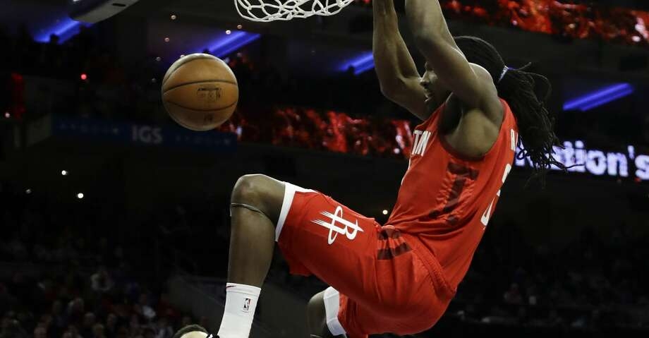 PHOTOS: Rockets game-by-game Houston Rockets' Kenneth Faried (35) dunks the ball as Philadelphia 76ers' Ben Simmons (25) , T.J. McConnell (12) and Landry Shamet (1) look on during the first half of an NBA basketball game, Monday, Jan. 21, 2019, in Philadelphia. (AP Photo/Matt Slocum) Browse through the photos to see how the Rockets have fared in each game this season. Photo: Matt Slocum/Associated Press
