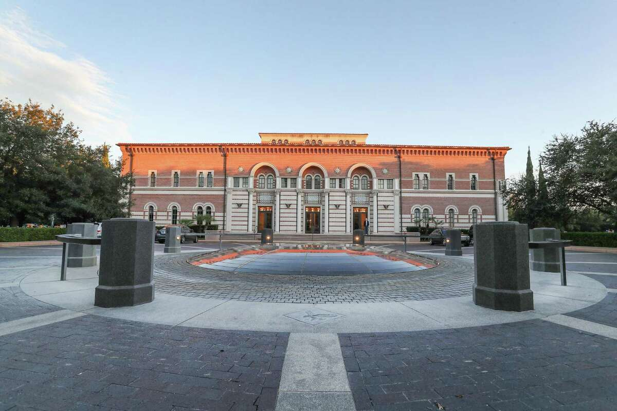 James A. Baker III Hall is shown on the Rice University campus in this file photo. On Friday, Dec. 8, 2020, the Houston university said its spring courses would be online due to the rising number of coronavirus cases.