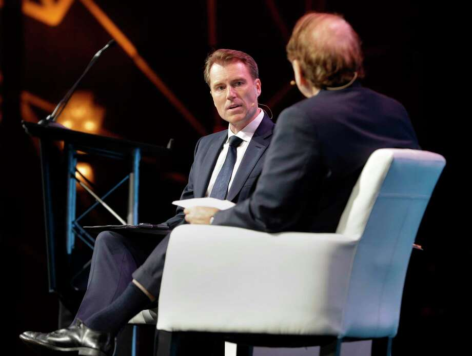 Investments in North American oilfields are expected to be down this year while international markets are expected to grow, Schlumberger CEO Paal Kibsgaard said on Monday.  Photo: Michael Wyke, Freelance / For The Chronicle / © 2018 Houston Chronicle