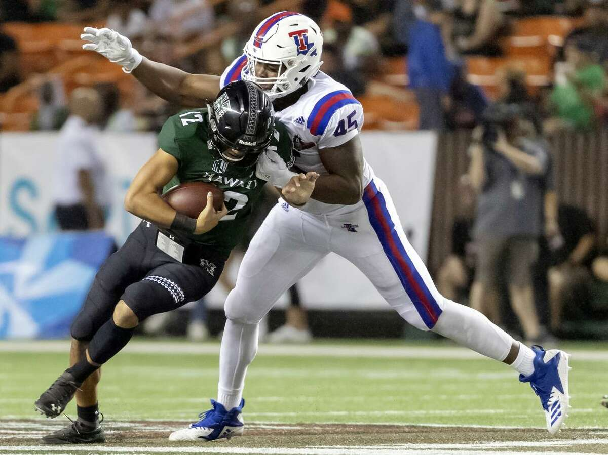 JAYLON FERGUSON, LOUISIANA TECH Ferguson is a name that I've mentioned before, and I'll double down on the case for the Seahawks to consider him. When you lose a pass rusher of Frank Clark's caliber, you need someone to come in that you're most confident can produce right away. One would be hard pressed to find an edge rusher in this draft -- even with as talented as it is on the defensive line -- that's a safer pick than Louisiana Tech's Jaylon Ferguson. Ferguson is the FBS record holder with 45 career sacks. He's projected to fall into the second round, and that could play into the Seahawks' favor. Similar to Clark, Ferguson enters the league with a run-in with the law on his resume. The latter was convicted of simple battery his freshman year, and his invitation to the combine was rescinded. Could Ferguson's narrative play out similarly to Clark's -- have his off-the-field issues cause him to tumble in a draft to the Seahawks, who take a chance on him and he develops into a star down the line?