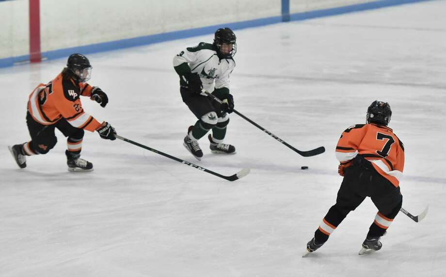 East Haven, Connecticut - Wednesday, January 23, 2019: Guilford H.S. hockey vs. Watertown Pomperaug first period action Wednesday evening at Veterans Memorial Ice Rink in East Haven. Photo: Peter Hvizdak / Hearst Connecticut Media / New Haven Register