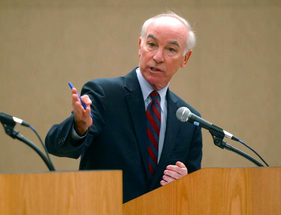Democratic incumbent U.S. Rep. Joe Courtney speaks during the 2nd Congressional debate at Eastern Connecticut State University in Willimantic, Conn. on Thursday Oct. 21, 2010. (AP Photo/The Norwich Bulletin, Aaron Flaum) Photo: Aaron Flaum / AP / Norwich Bulletin