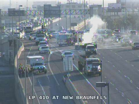 Vehicle fire on Loop 410 cleared, all lanes reopened - San