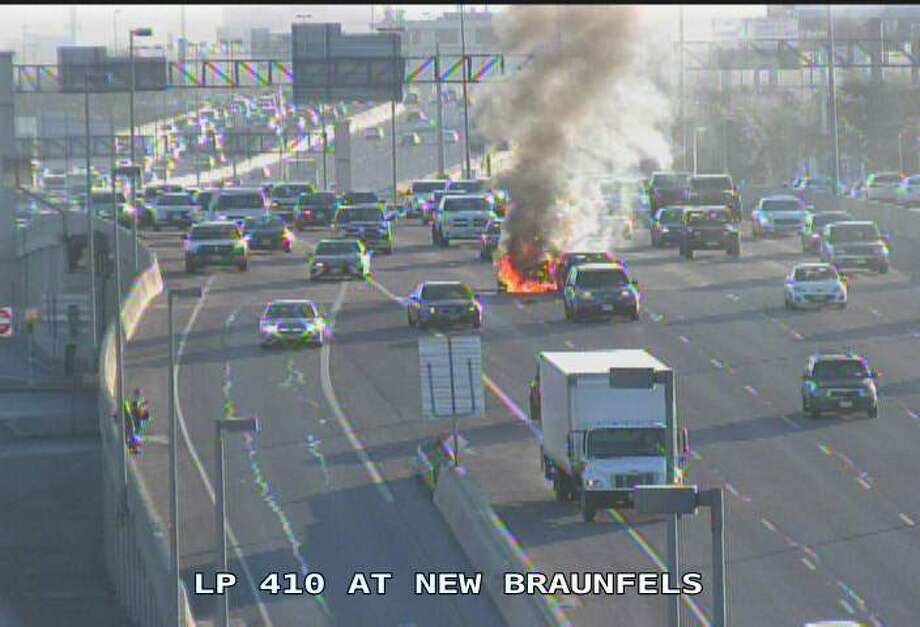 Authorities responded to a crash on Northeast Loop 410 at New Braunfels at about 8:15 a.m., according to the San Antonio Fire Department's active call log. Photo: Texas Department Of Transporation