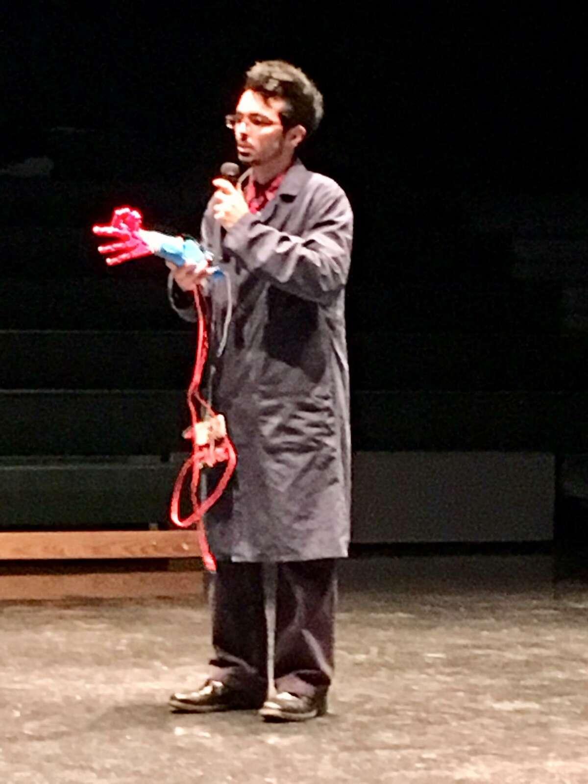 Fairchild Wheeler student presents his capstone project. Jan. 10, 2019