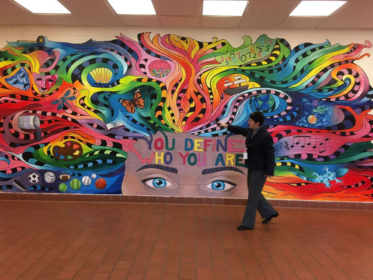 A wall mural served as a capstone project for one senior at Shelton High School. Jan. 14, 2019