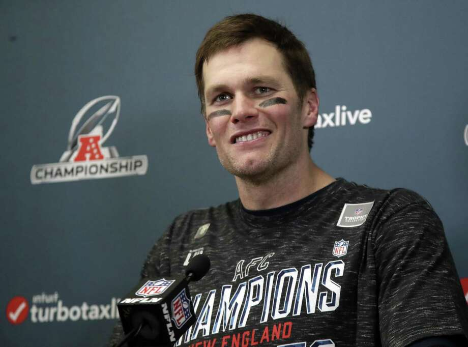 New England Patriots quarterback Tom Brady speaks during a news conference after their 37-31 overtime victory over the Kansas City Chiefs in the AFC Championship NFL football game, Sunday, Jan. 20, 2019, in Kansas City, Mo. (AP Photo/Elise Amendola) Photo: Elise Amendola / Associated Press / Copyright 2019 The Associated Press. All rights reserved