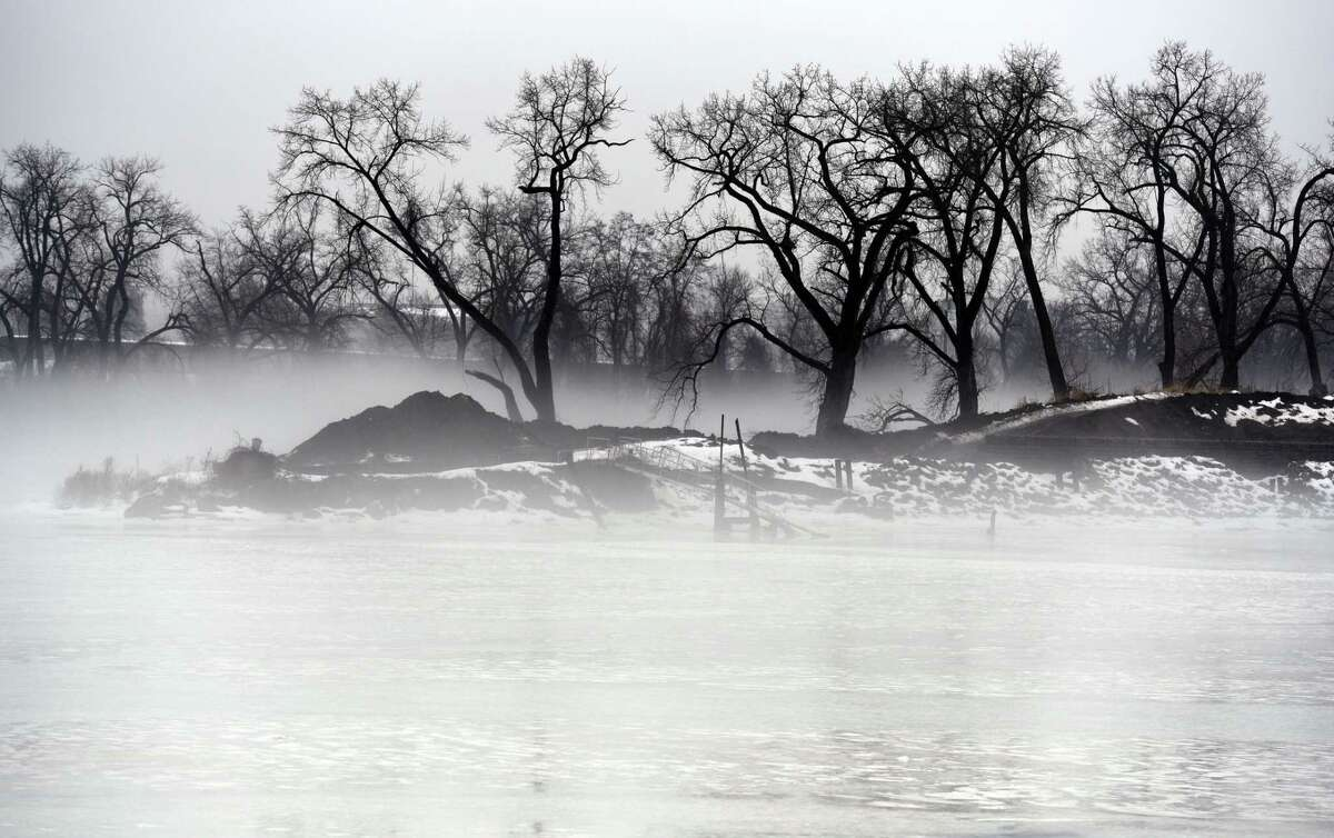 A blanket of fog covers the Hudson River Thursday, Jan. 24, 2019 in Troy, N.Y. (Phoebe Sheehan/Times Union)