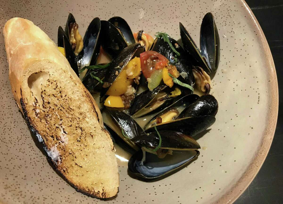 Mussels with heirloom tomatoes at Savor
