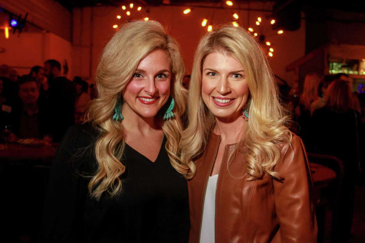 Mary Wade, left, and Stacy Stewart at the Cattle Baron's Ball 2019's Gentlemen's Committee Celebration at Daisy Duke's.