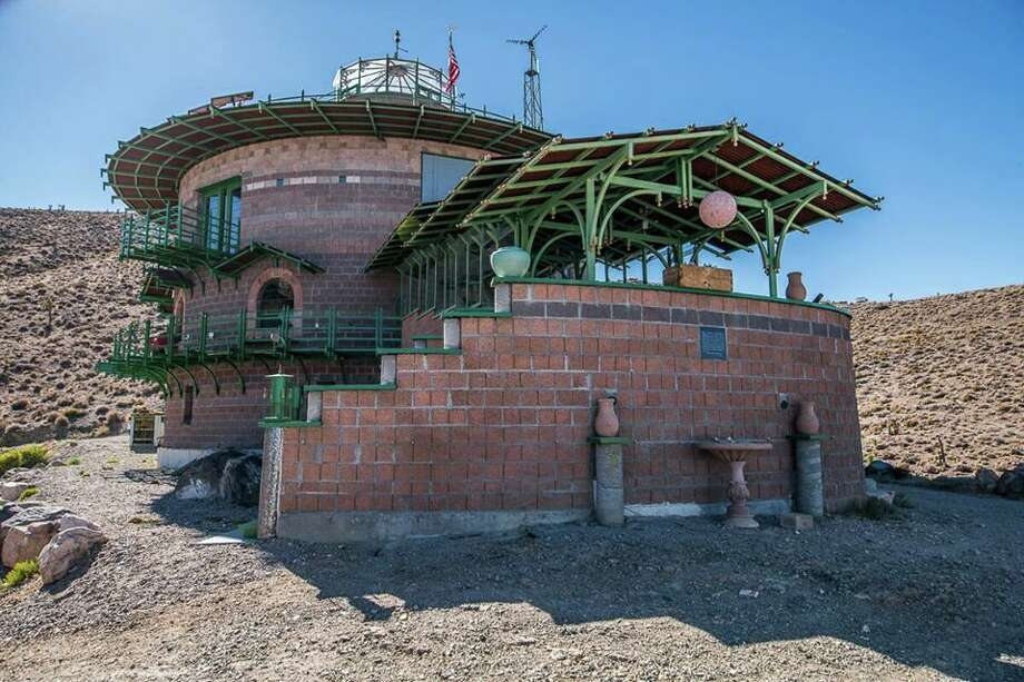 A custom-built fortress in the middle of Nevada's high desert, a two and a half hour drive from Las Vegas, is listed for $950,000. Photo: Jake Rasmuson